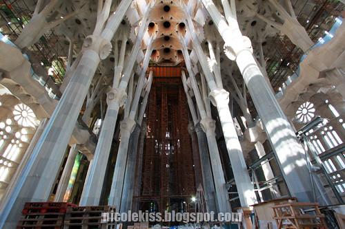 beautiful interior of Sagrada Familia 2