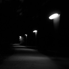 Luisenpark (NEOPIXX Photography by Christopher Schmid) Tags: park light shadow bw white black night lensbaby germany way deutschland licht thringen nikon nacht erfurt path christopher schatten schmid schwarz weg zweifel luisenpark weis selbstvertrauen neopixx d300s strasenlaternen