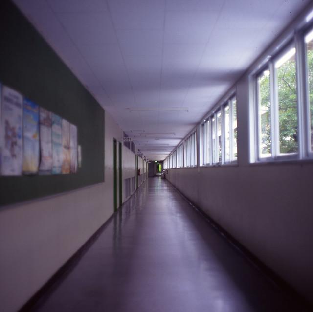 講義棟の廊下