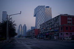 beijing-2011-guangshou-lu-sunrise (Raphael Olivier) Tags: pictures china city morning travel urban building tower architecture sunrise buildings asian photography dawn early photo asia downtown cityscape photographer photos district towers chinese beijing picture cities documentary cctv east editorial financial urbanism repoartage raphaelolivier