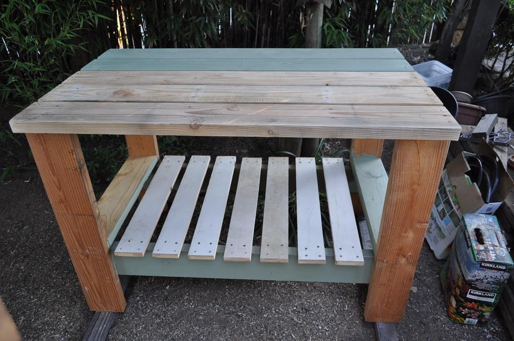 Lori's new potting table!