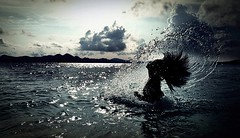 sea nymph (small wonder) Tags: sea lumix philippines coron palawan watersplash seagoddess seanymph hairsplash
