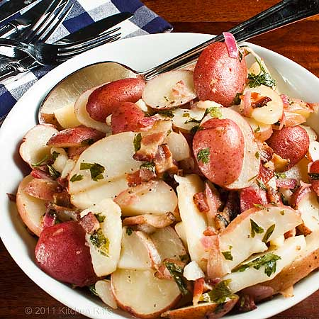German Potato Salad in serving bowl