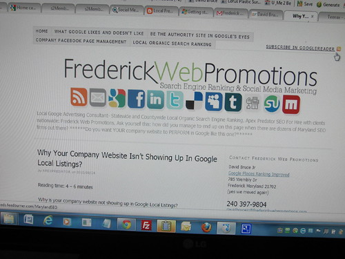 Frederick Web Promotions