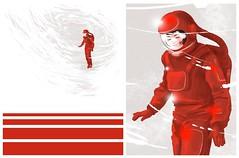 Hiroko 2 (7115) Tags: liisroden graphics grfx art astronaut girl red cosmonaut snow mars