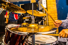 Black Country Blues (williamrandle) Tags: theblues dudley westmidlands england uk autumn 2016 music drummer band musicians dof depthoffield theblackcountry nikon d7100 tamron2470f28vc performer musician people drum