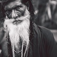 Watcher (Thanwan Singh) Tags: sadhu travel portrait photography varanasi babaji india indian hindi square bnw monochrome thanwansingh blackjuice7