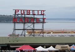 Seattle public market_ (Mic the otter spotter, going slow) Tags: seattle publicmarket sign landmark famous shops shopping sellers