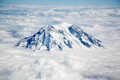 Mt. Rainier (El Cajon) Tags: clouds flight landscape mt rainier