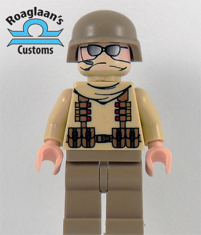 Custom minifig tan modern custom minifig soldier