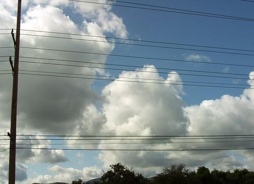 Clouds Above The Orange Field