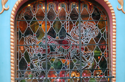 glass in lead carrousel horse