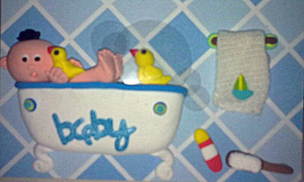 baby  boy in a bath tub
