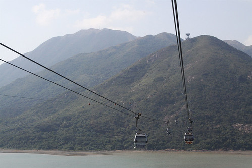 Crossing the water to Lantau Island