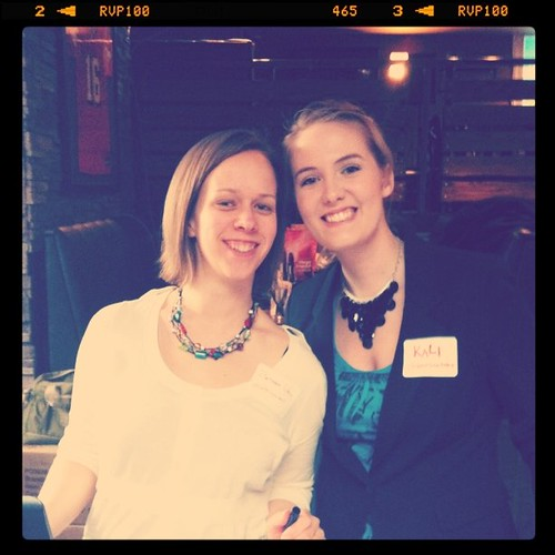 Twestival @bethanyawall @yourfrontstep are our wonderful check in ladies! #yyc #yyctwestival