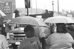 theres a horse under my umbrella (Stranger1970) Tags: street leica blackandwhite film umbrella 35mm pittsburgh pa ilford m6 braddock 100speed
