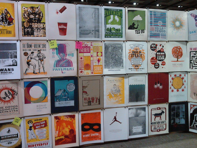 Awesome tour posters at the Flatstock exhibit during SXSW.