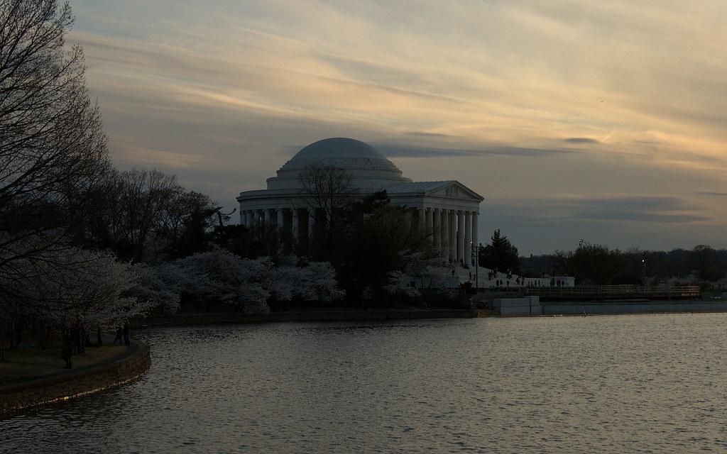 Jefferson Memorial & Cherry Blossoms, Tidal Basin, Washington D.C.