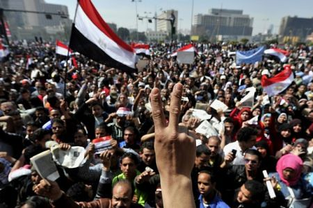 "Thousands of Egyptians gathered in Tahrir Square on April 1, 2011 in a ""Save the Revolution"" demonstration. They are demanding the removal of the leaders of the Supreme Military Council and immediate civilian rule. by Pan-African News Wire File Photos"