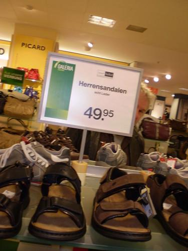 herr und sandalen