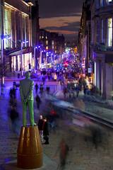 Buchanan Street, Glasgow, Scotland (ericwyllie) Tags: sunset urban colour landscape outdoors scotland eric cityscape time outdoor dusk glasgow background places timeexposure backgrounds 2009 gloaming ericwyllie imagetype photospecs
