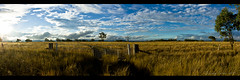 Outback NSW Pano (Lenny Turner) Tags: sunset panorama clouds zeiss landscape outdoor sony australia panoramic nsw outback alpha a700 5xp cs5 sal1680z