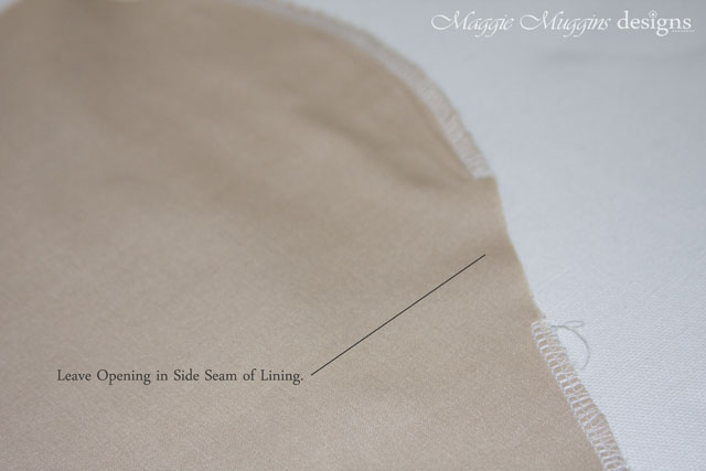 Opening in Side Seam