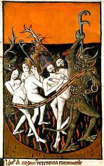 "Hell. ""Ars moriendi"". 15cent. France.  Marseille BM ms 0089. Enlumin. (tony harrison) Tags: devils hell apocalypse medieval middleages demons illuminatedmanuscripts"