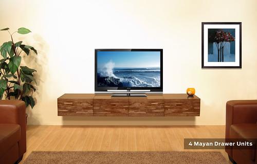 wall mounted tv stand mayan