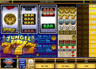 Jungle Sevens slot game online review