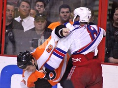 Sean O'Donnell vs. Brandon Prust (Dylan Moody) Tags: hockey nhl fight flyers rangers defense forward winger newyorkrangers philadelphiaflyers nyrangers nyr nationalhockeyleague defenseman seanodonnell brandonprust