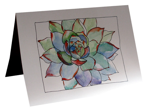 The worlds best photos by botanical watercolor hand painted hand painted botanical greeting note cards succulent agave plant botanical watercolor hand painted greeting cards m4hsunfo