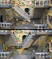 Hogwarts Moving Stairs Detail (Imagine) Tags: castle stairs toy toys lego harrypotter minifig hogwarts playable foitsop imaginerigney legostairs movinglegostairs