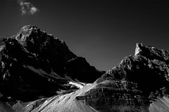 Near Lake Louise (Chesil) Tags: blackandwhite bw mountain canada landscape blackwhite lakelouise chesil mountainscape nearlakelouise