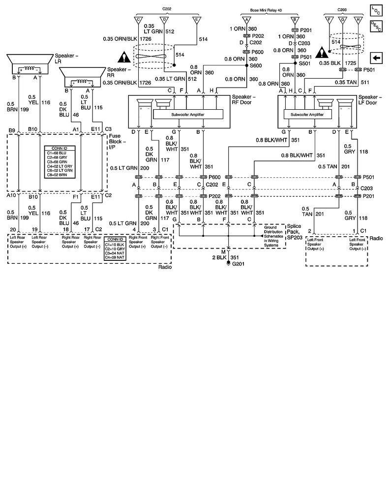 corvette wiring diagram for bose car speakers