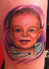 fun baby portrait