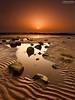 Ripples (.Brian Kerr Photography.) Tags: orange sun mist seascape beach fog sunrise canon reflections coast scotland sand glow coastal shore coastline ripples dumfriesgalloway rockpools southerness goldendisc eos5dmkii briankerrphotography briankerrphoto