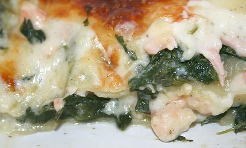 45 - Lachs-Spinat-Lasagne / Salmon spinach lasagne -CloseUp