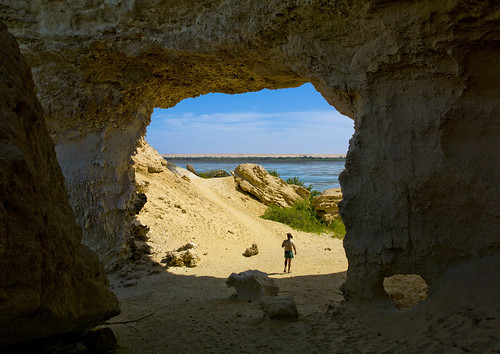 Cave At Arco's Oasis, Namibe Desert, Angola by Eric Lafforgue