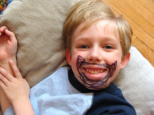 why yes, that is sharpie marker beard by Jacks mom