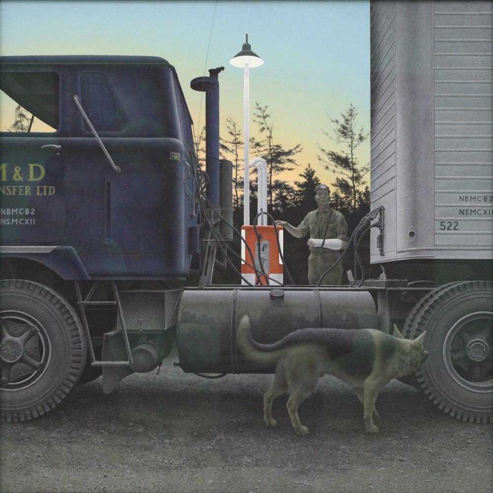 Alex Colville, Truck stop, 1966