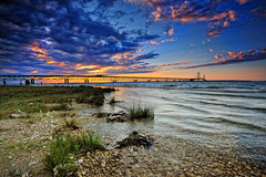 """Bridge View Park"" - Mackinac Bridge - Mackinaw City, Michigan (Michigan Nut) Tags: sunset usa art clouds geotagged photography michigan wideangle lakemichigan explore suspensionbridge mackinacisland lakehuron mackinacbridge stumble straitsofmackinac mackinawcity michigannutphotography nikon1635mmf4gedafsvrwideanglezoomlens"