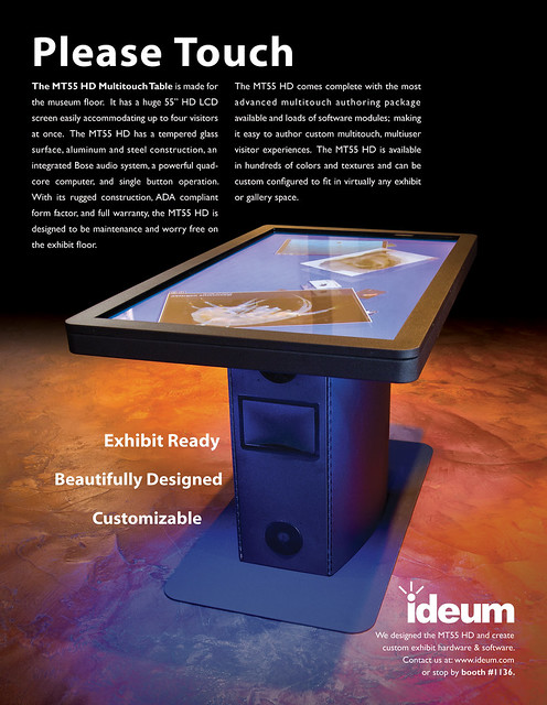 MT55 Multitouch Table - Ad for the AAM Conference