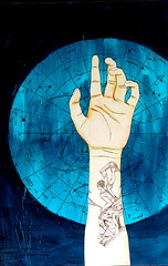 Tattoos (Part 2 - Cassopeia) (A Lion's Heart) Tags: blue art tattoo ink stars hand drawing constellation starchart cassiopeia