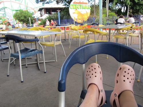 Resting my weary feet
