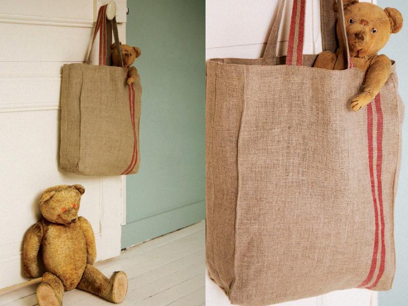 Charles, le sac shopping en toile à torchon