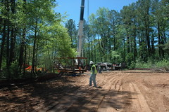 Construction and Bridge Setting for the South Fork Peachtree Creek Trail