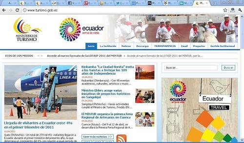 ministerio de turismo de ecuador