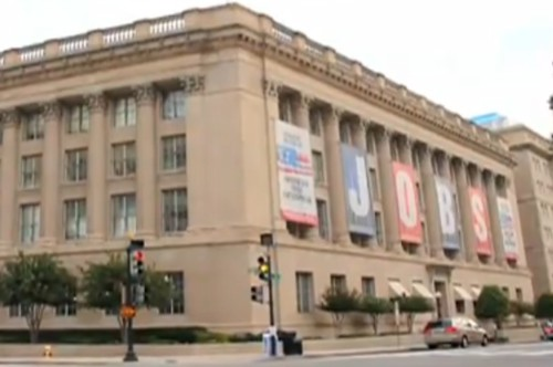 Screen shot from GRITtv video on US Chamber of Commerce, From ImagesAttr