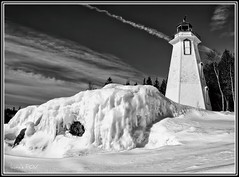 Big Tub Lighthouse (laura's POV) Tags: winter lighthouse ontario canada cold ice georgianbay lakehuron tobermory bigtublighthouse mygearandme lauraspointofview lauraspov